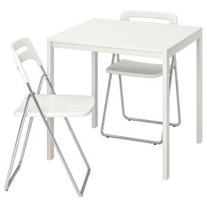 МЕЛЬТОРП / НИССЕ Стол и 2 складных стула