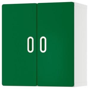 СТУВА / ФРИТИДС Навесной шкаф, белый, зеленый