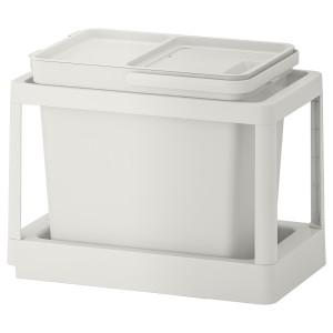 ХОЛЛБАР Решение для сортировки мусора, с выдвижным модулем, светло-серый