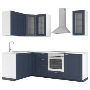 МЕТОД Кухня, белый, Акстад темно-синий