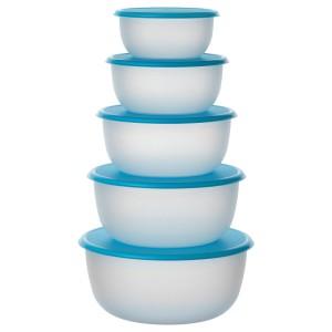 РЕДА Набор контейнеров, 5 шт., круглой формы синий голубой