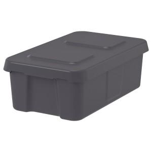 КЛЭМТАРЕ Контейнер с крышкой,д/дома/сада, темно-серый