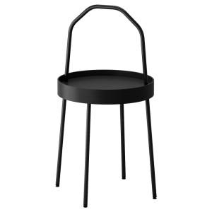 БУРВИК Придиванный столик, черный