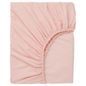 ДВАЛА Простыня натяжная, светло-розовый