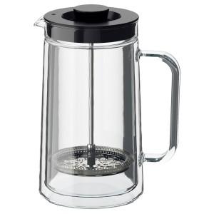 ЭГЕНТЛИГ Кофе-пресс/заварочный чайник, двуслойные стенки, прозрачное стекло