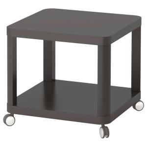 ТИНГБИ Стол приставной на колесиках, серый