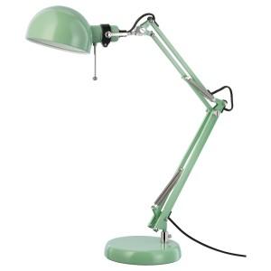 ФОРСО Лампа рабочая, зеленый