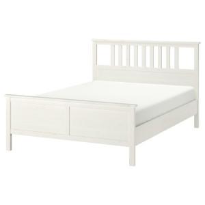 ХЕМНЭС Каркас кровати, белая морилка