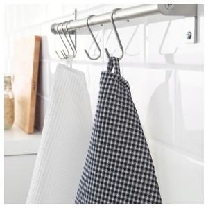 ТРОЛЛЬПИЛ Полотенце кухонное, белый, черный, 2шт
