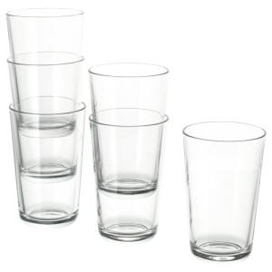 ИКЕА/365+ Стакан, прозрачное стекло, 6шт