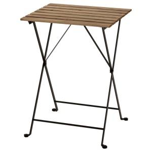 ТЭРНО Садовый стол, черный, светло-коричневая морилка серо-коричневая морилка