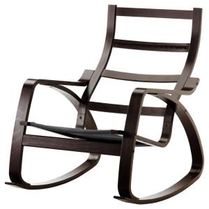 ПОЭНГ Каркас кресла-качалки, черно-коричневый