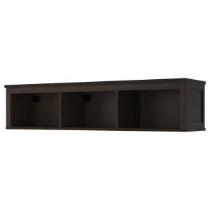 ХЕМНЭС Полочный/арочный модуль, черно-коричневый