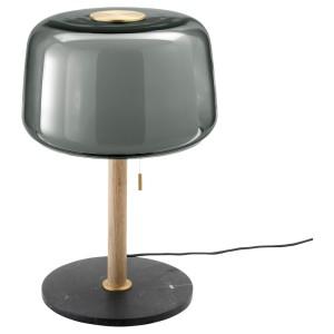 ЭВЕДАЛЬ Лампа настольная, серый мрамор, серый