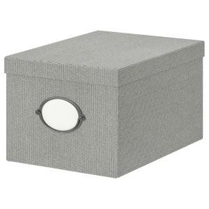 КВАРНВИК Коробка с крышкой, серый