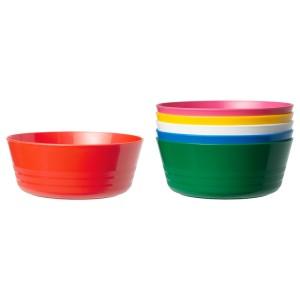 КАЛАС Миска, разноцветный, 6шт