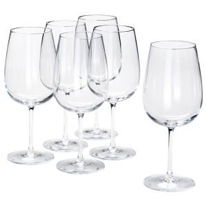 СТОРСИНТ Бокал для красного вина, прозрачное стекло, 6шт