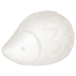 ЛУРИГА Светодиодный ночник, белый, ёж