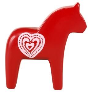 ФИНАНСИЭЛЛ Украшение, лошадь, красный, сердце