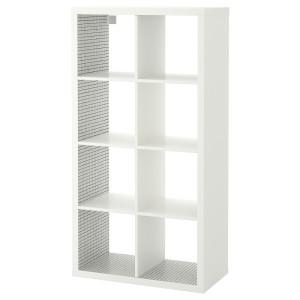 КАЛЛАКС Стеллаж, белый, клетчатый орнамент