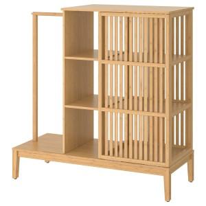 НОРДКИЗА Открытый гардероб/раздвижная дверь, бамбук