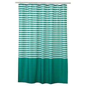 ВАДШЁН Штора для ванной, темно-зеленый