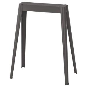 НЭРСПЕЛЬ Опора для стола, темно-серый металлический