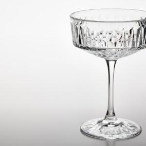 СЭЛЛЬСКАПЛИГ Бокал для шампанского, прозрачное стекло, с рисунком, 4шт