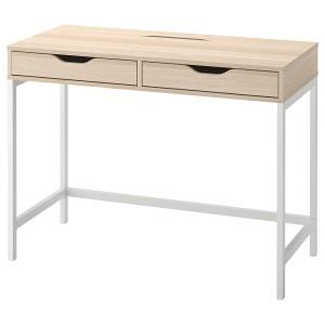 АЛЕКС Письменный стол, белая морилка, под дуб