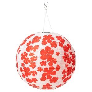 СОЛВИДЕН Подвесная светодиодная лампа, для сада шаровидный, цветок