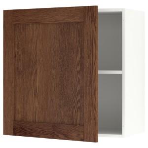 КНОКСХУЛЬТ Навесной шкаф с дверцей, под коричневый мореный ясень