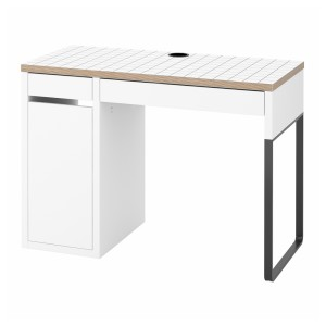МИККЕ Письменный стол, белый, антрацит