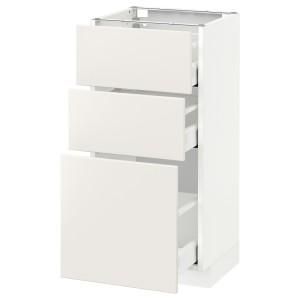 МЕТОД / МАКСИМЕРА Напольный шкаф с 3 ящиками, белый, Веддинге белый