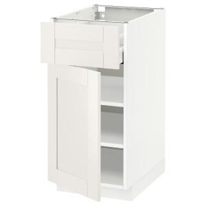 МЕТОД / МАКСИМЕРА Напольный шкаф с ящиком/дверью, белый, Сэведаль белый