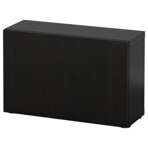БЕСТО Стеллаж с дверью, черно-коричневый черно-коричневый, Лаппвикен черно-коричневый черно-коричневый