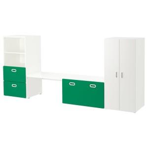 СТУВА / ФРИТИДС Комбинация д/хранения, белый, зеленый