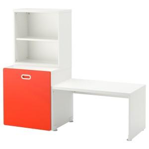 СТУВА / ФРИТИДС Стол с отделением для игрушек, белый, красный