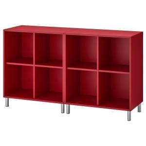 ЭКЕТ Комбинация шкафов с ножками, красный