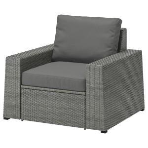 СОЛЛЕРОН Садовое кресло, темно-серый, ФРЁСЁН/ДУВХОЛЬМЕН темно-серый