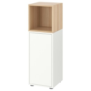 ЭКЕТ Комбинация шкафов с ножками, белый, под беленый дуб