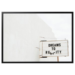 БЬЁРКСТА Картина с рамой, Dream, черный