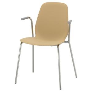 ЛЕЙФ-АРНЕ Легкое кресло, светлый оливково-зеленый, Дитмар хромированный