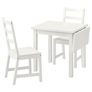 НОРДВИКЕН / НОРДВИКЕН Стол и 2 стула, белый, белый
