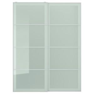 СЭККЕН Пара раздвижных дверей, матовое стекло