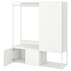 ОПХУС Гардероб 3-дверный, белый, Фоннес белый