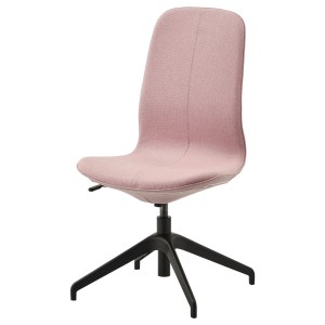 ЛОНГФЬЕЛЛЬ Конференц-стул, Гуннаред светлый коричнево-розовый, черный