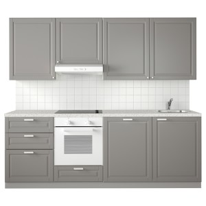 МЕТОД Кухня, белый, Будбин серый