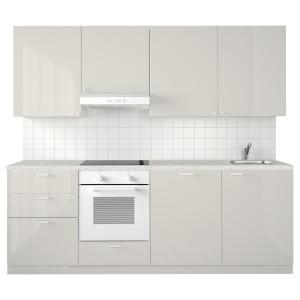 МЕТОД Кухня, белый, Рингульт светло-серый