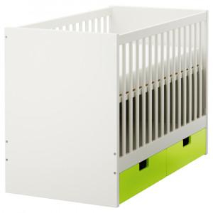 СТУВА Кроватка детская с ящиками