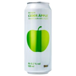 CIDER ÄPPLE Яблочный сидр 0,1%, 0.5л